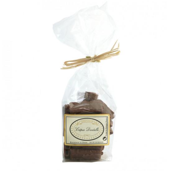 Crêpes dentellesde chocolate con leche Le Dréan