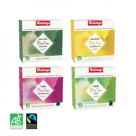 Pack de 4 étuis de 16 doses Thé & Infusion