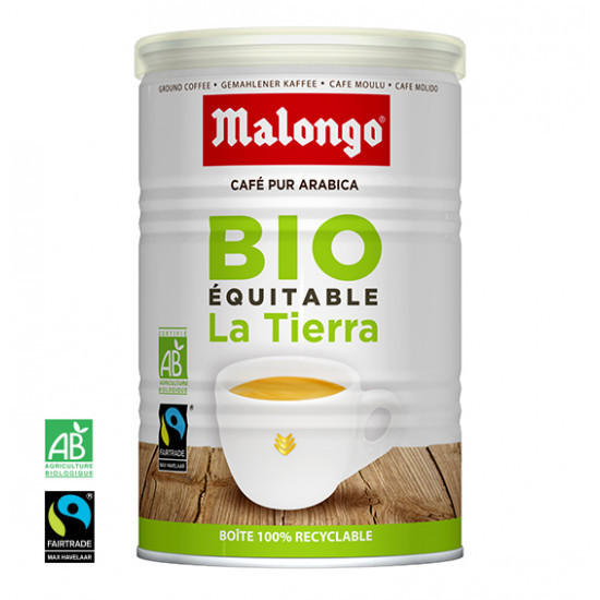 Boite 125g café moulu La tierra