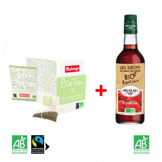 Pack Biotea menthe et sirop meneau framboise