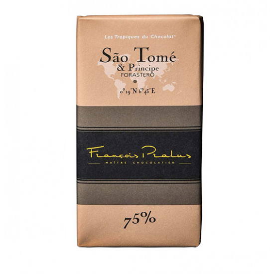 Barra de chocolate Pralus deSanto Tomé