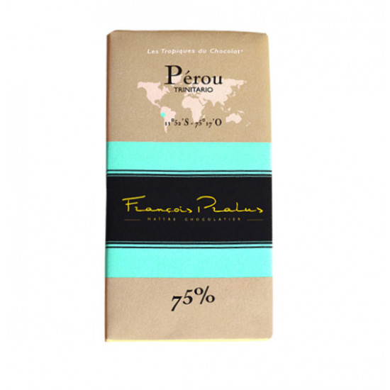 Barra de chocolate Pralus dePerú