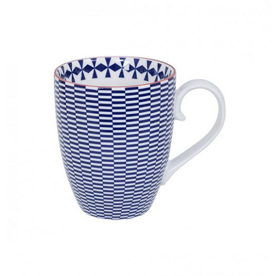 Mug Tokyo Design Geometric Bleu