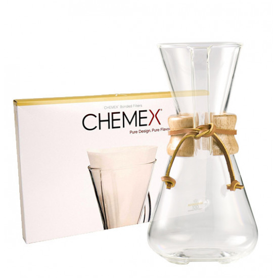 Cafetière Chemex 3 tasses et  filtres