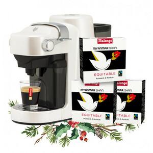 A la recherche d'une idée cadeau pour Noël ? Faites plaisir à vos proches avec notre machine Neoh Expresso à 49€ au lieu de 99€. Pour l'achat d'une machine, nous vous offrons 3 étuis de café équitable du Myanmar, un délicieux arabica aux notes sauvages et cacaotées. Rendez-vous dans nos boutiques et sur notre site. #Malongo #cafésMalongo #Coffeelover #Café #Noël #Cadeau